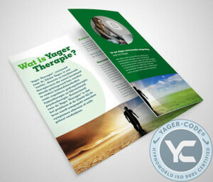 Tríptico de la carpeta Yager Therapy